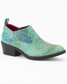 Ferrini Women's Darlin Fashion Booties - Round Toe, Turquoise, hi-res