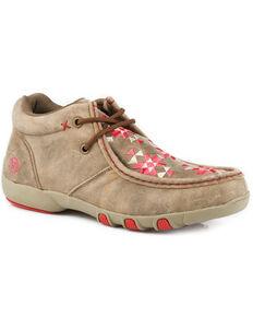 Roper Women's Tan High Country Azteka Shoes , Brown, hi-res