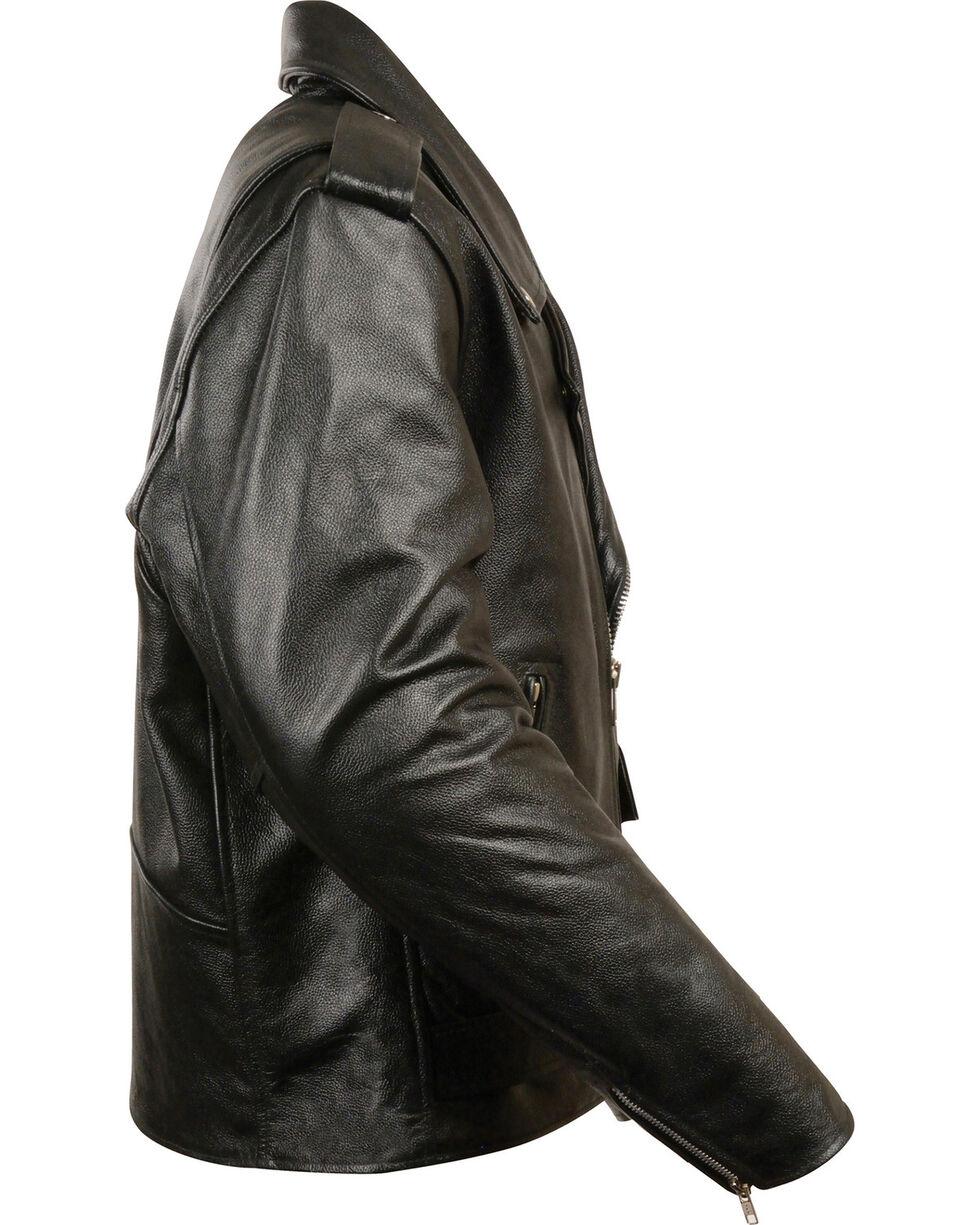 Milwaukee Leather Men's Black Classic Police Style M/C Jacket - Big 5X , Black, hi-res