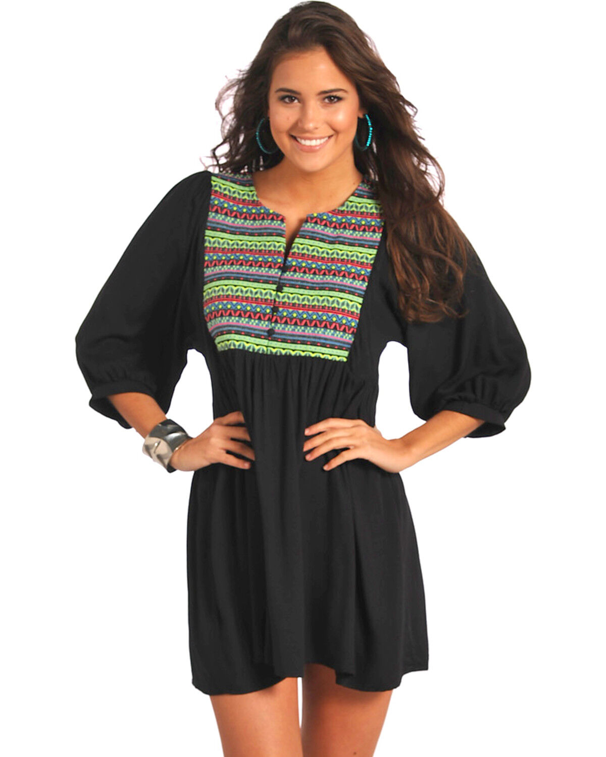 Black rock and roll cowgirl dress