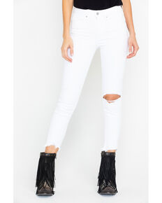 Levi's Women's Iced Out 30 Inseam High Destructed Skinny Jeans , White, hi-res