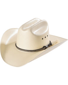 9d1a59638a4 Cody James Men s Natural Straw Horsehair Band Cowboy Hat