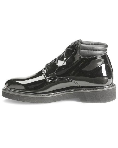 Rocky Dress Leather High Gloss Chukka Duty Shoes, Black, hi-res
