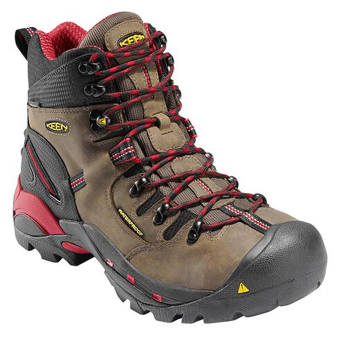 Keen Men's Pittsburgh Mid Waterproof Boots - Steel Toe, Bison, hi-res