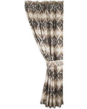 HiEnd Accents Chalet Aztec Curtain, Multi, hi-res