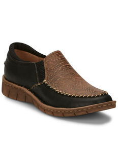 Tony Lama Women's Magdalena Western Boots - Moc Toe, Black, hi-res