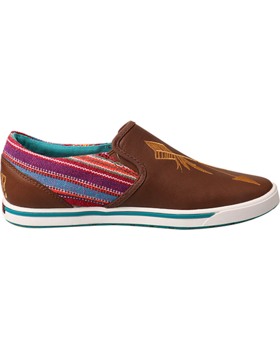 "Twisted X Women's ""Be Brave"" Casual Shoes - Round Toe, Brown, hi-res"