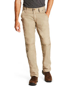 Ariat Men's Rebar M4 Low Rise Workhorse Canvas Bootcut Pants, Beige/khaki, hi-res