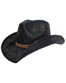 Peter Grimm Headwear Black Hattie Straw Hat , Black, hi-res