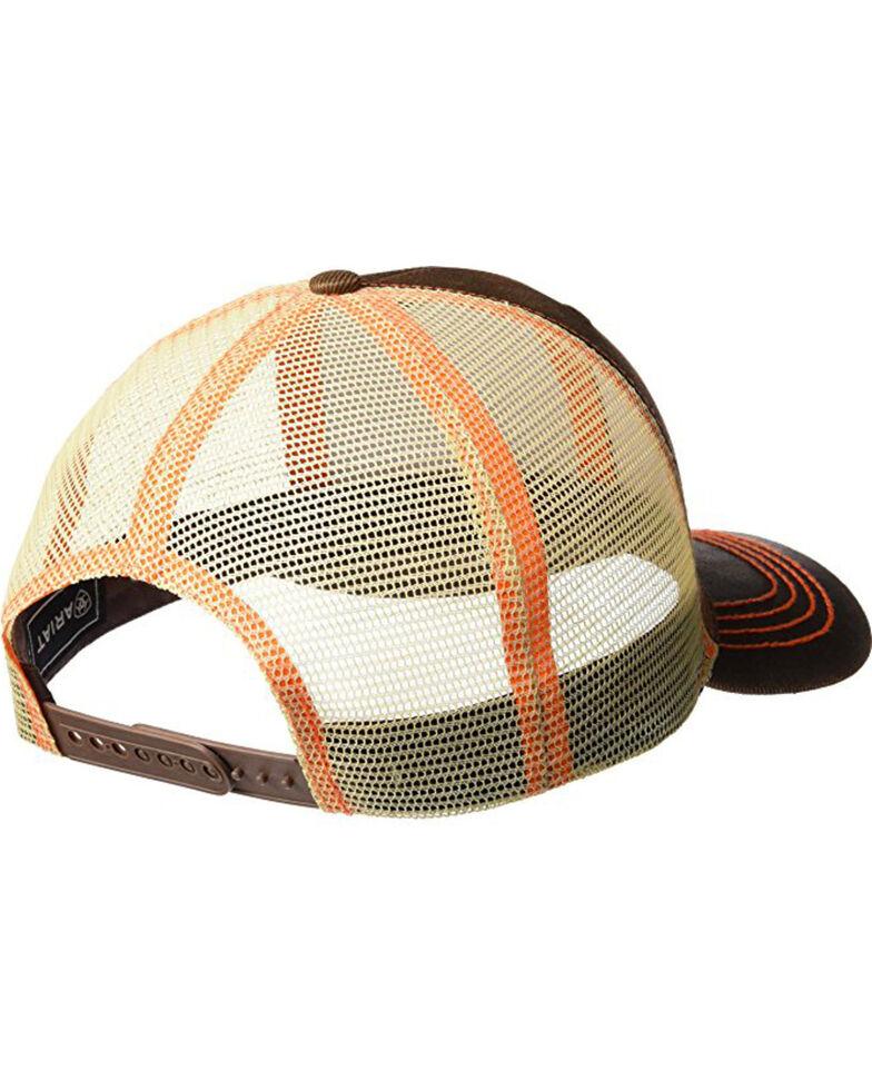 Ariat Men's Brown Oilskin Shield Logo Baseball Cap , Brown, hi-res