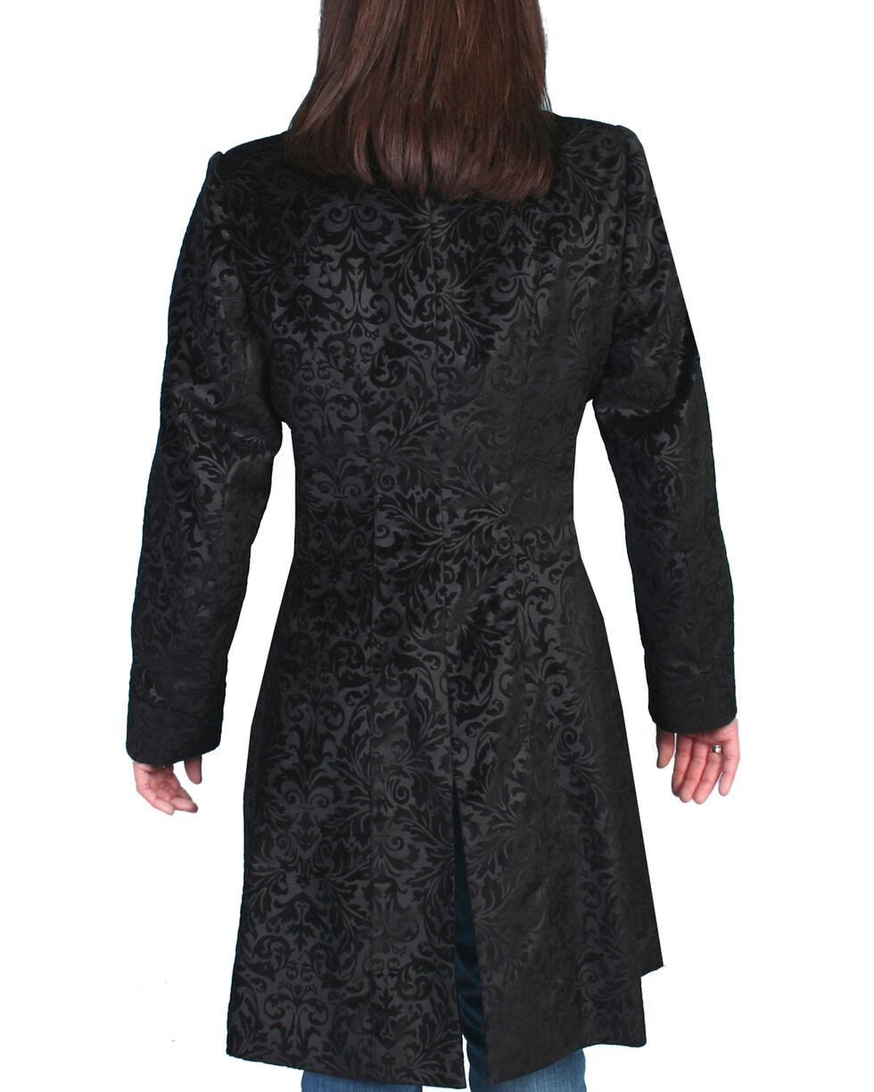 WahMaker by Scully Floral Flocked Coat, Black, hi-res