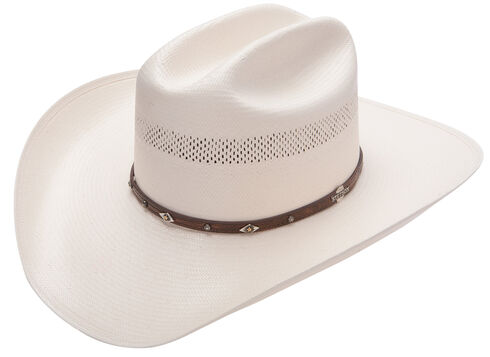Stetson Lobo 10X Straw All-Around Vent Star Concho Band Cowboy Hat, Natural, hi-res