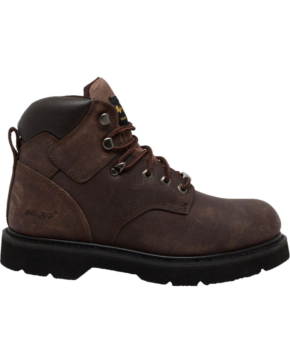 "Ad Tec Men's 6"" Brown Leather Work Boots - Steel Toe, Brown, hi-res"