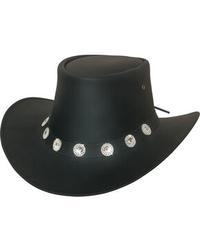 Bullhide Women's Good Things Leather Western Hat , Black, hi-res