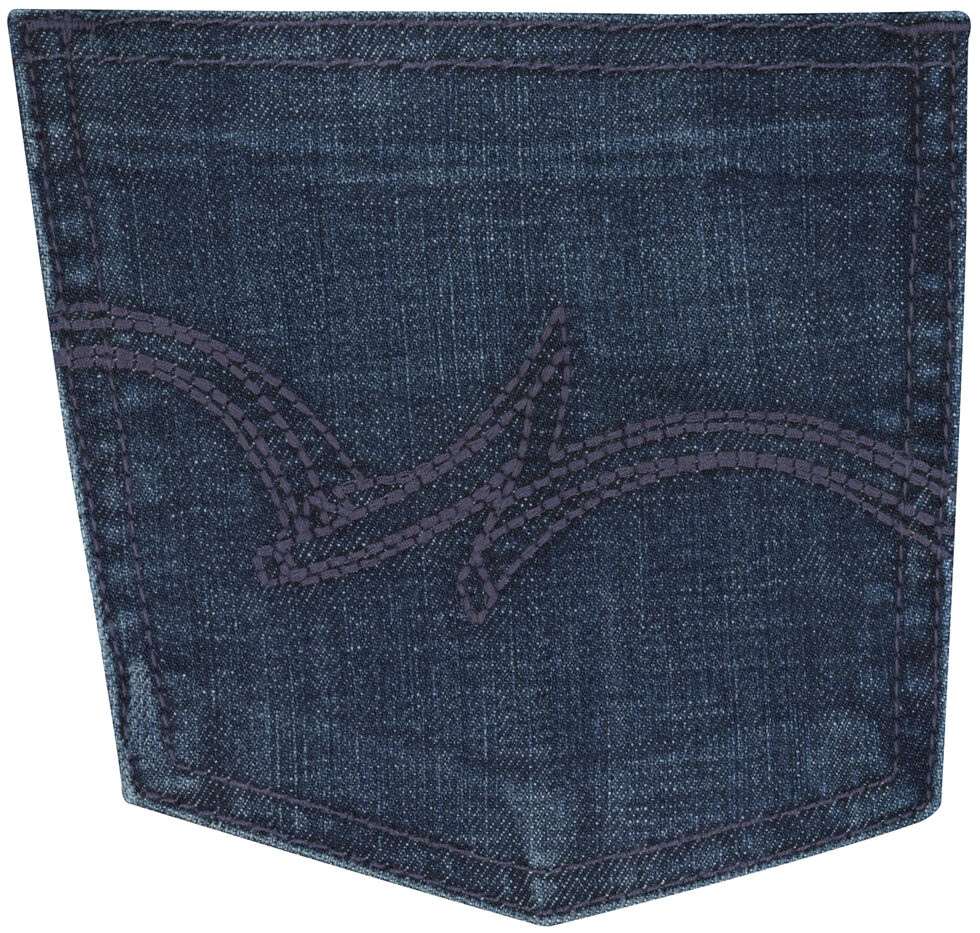 Wrangler Women's Dark Wash Straight Leg Jeans, Dark Blue, hi-res
