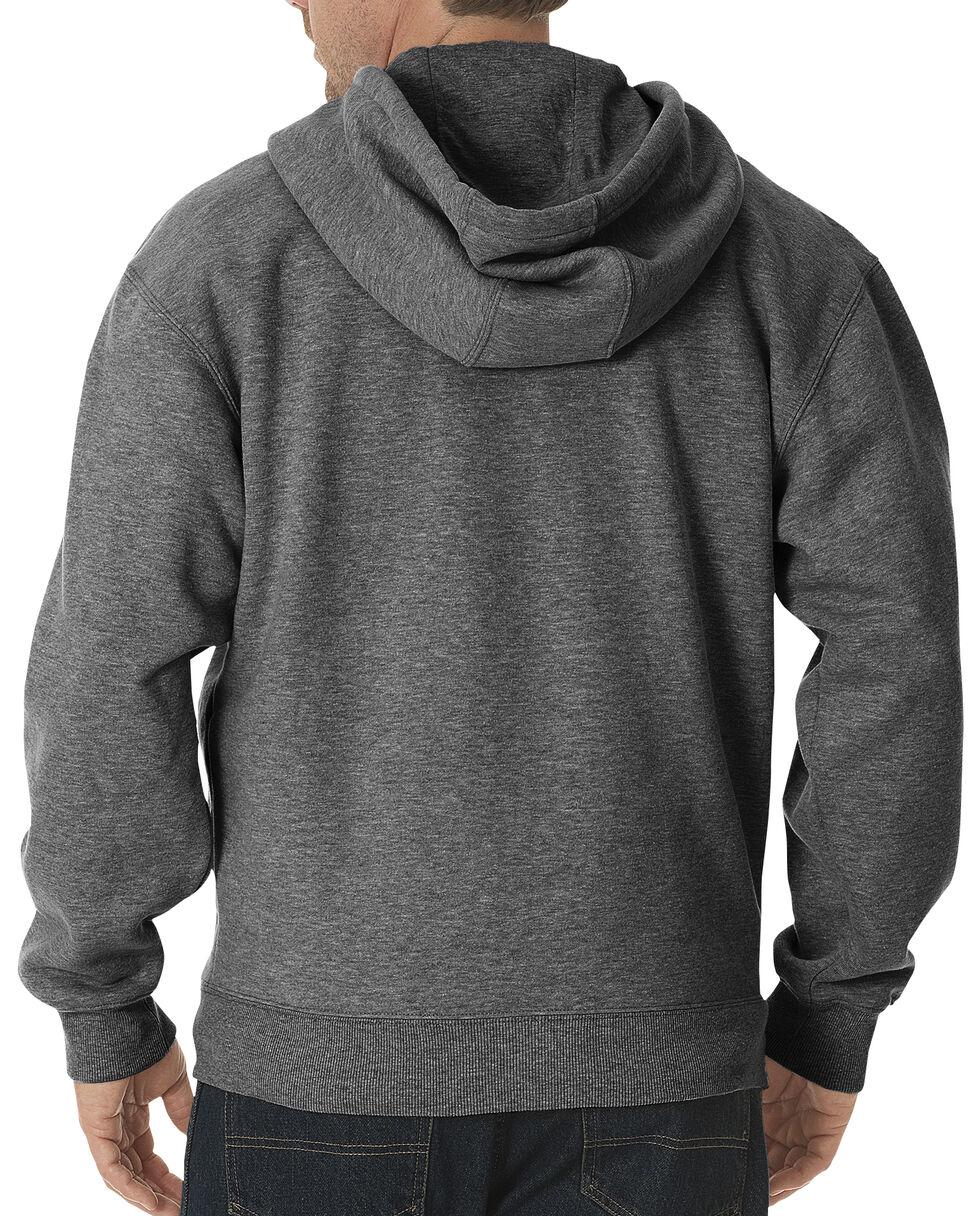 Dickies Midweight Fleece Zip-Up Hooded Work Jacket, Dark Grey, hi-res