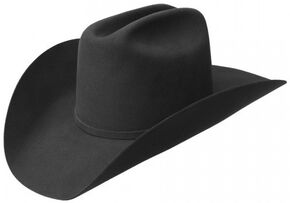 Bailey Men's Wheeler 3X Wool Felt Cowboy Hat, Black, hi-res