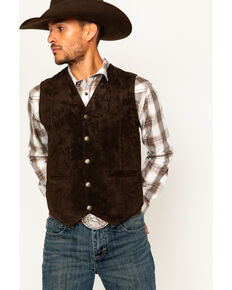 Cody James Mens Arel Western Vests Leather Brown Hi Res