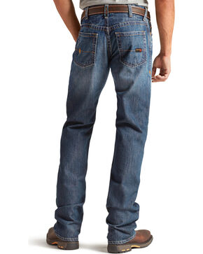 Ariat Men's M4 Flame Resistant Alloy Boot Cut Jeans, Indigo, hi-res