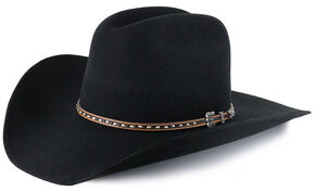 Cody James Men's 3X Wool Cowboy Hat, Black, hi-res