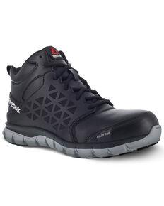 Reebok Men's Sublite Black Work Boots - Alloy Toe, Black, hi-res