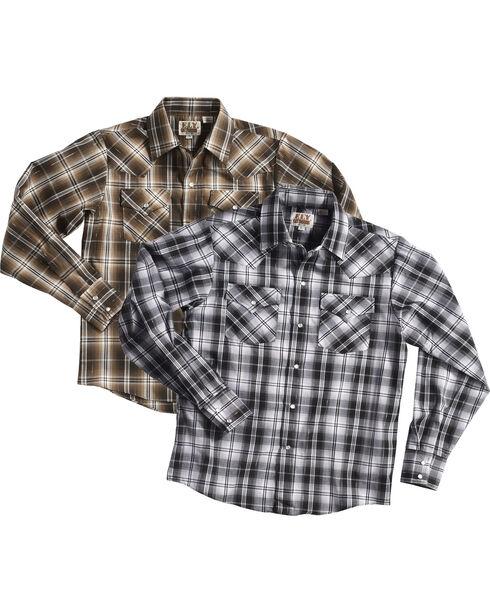 Ely Cattleman Boys' Lurex Plaid Assorted Long Sleeve Snap Shirt, Multi, hi-res