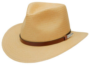 Black Creek Men's Wheat Toyo Straw Hat, Wheat, hi-res