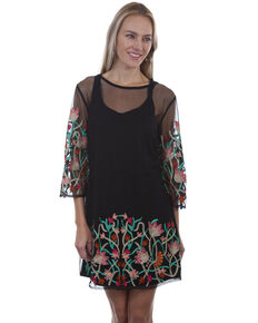 eb1661a27fa Honey Creek by Scully Womens Mesh Embroidered Dress