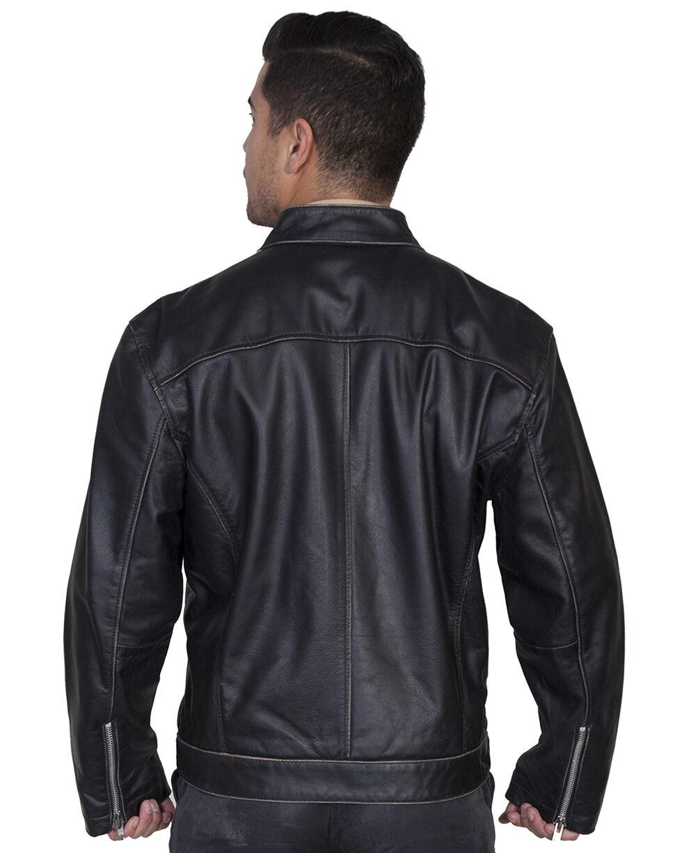 Scully Sanded Calf Racing Jacket, Charcoal Grey, hi-res