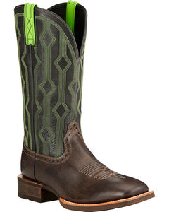 Ariat Live Wire Cowboy Boots - Square Toe , Chocolate, hi-res