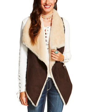 Ariat Women's Brown Kesha Vest, Brown, hi-res