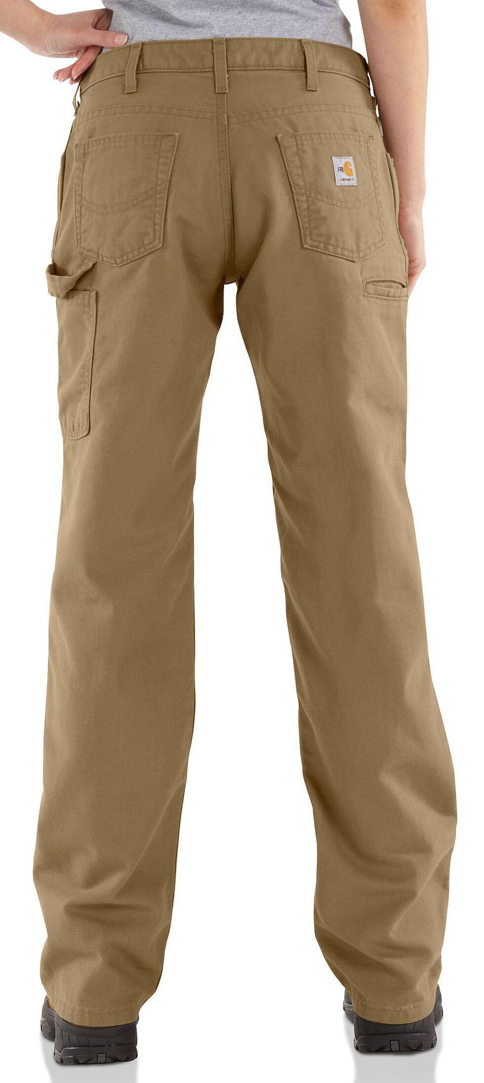 "Carhartt Flame Resistant Canvas Work Pants - 32"" Inseam, Khaki, hi-res"