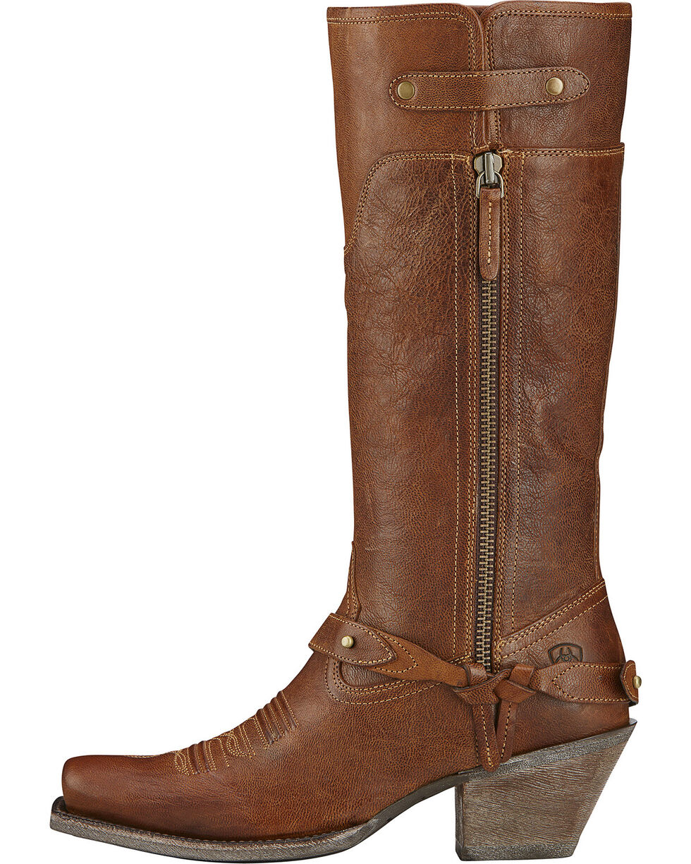 Ariat Wildflower Cowgirl Boots - Square Toe, Wood, hi-res