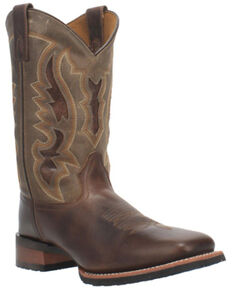 Laredo Men's Brown Western Boots - Wide Square Toe, Brown, hi-res