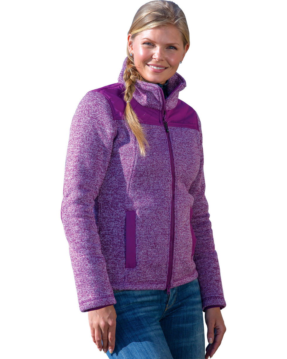 Mountain Horse Women's Welsh Fleece Jackets , Purple, hi-res