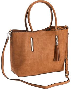 Wear N.E. Wear Women's Brown Tassel 3 Piece Handbag, Brown, hi-res
