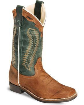 Cody James Youth Boys' Barnwood Cowboy Boot - Square Toe, Brown, hi-res