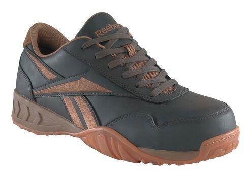 Reebok Women's Bema Eurocasual Work Shoes - Composition Toe, Brown, hi-res