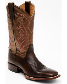 Shyanne Women's Frankie Western Boots - Wide Square Toe, Brown, hi-res
