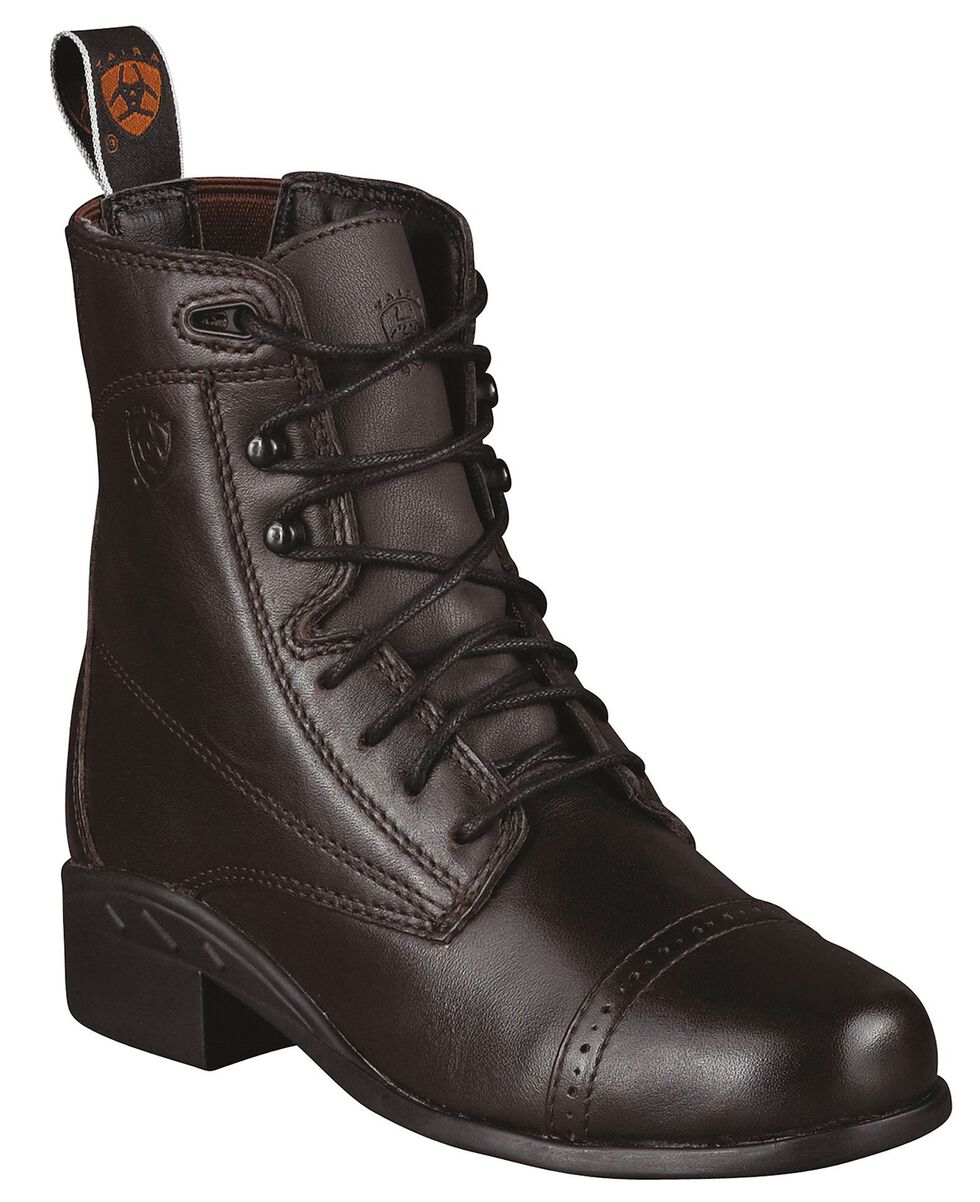Ariat Youth Girls' Performer III Riding Boots - Round Toe, Brown, hi-res