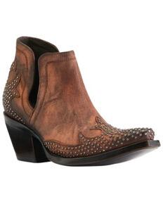 Ariat Women's Dixon Wingtip Fashion Booties - Snip Toe, Brown, hi-res