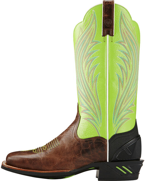 Ariat Brush Country Lime Catalyst Prime Cowgirl Boots - Square Toe, Brown, hi-res