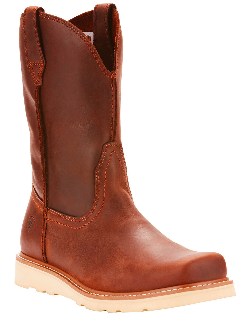 Ariat Men's Rambler Recon Foothill Brown Western Boots - Square Toe, Brown, hi-res