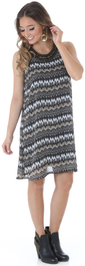 Wrangler Women's Lakeview Embellished Dress, Black, hi-res