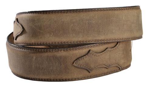 Justin Men's Bay Apache Leather Dress Belt, Bay Apache, hi-res