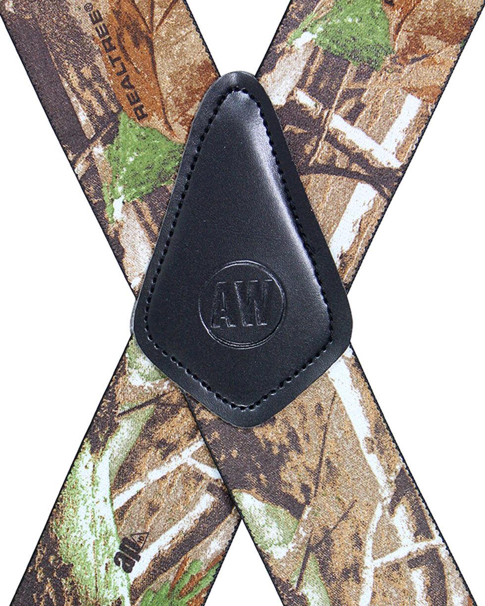 American Worker Men's Camo Suspenders, Camouflage, hi-res