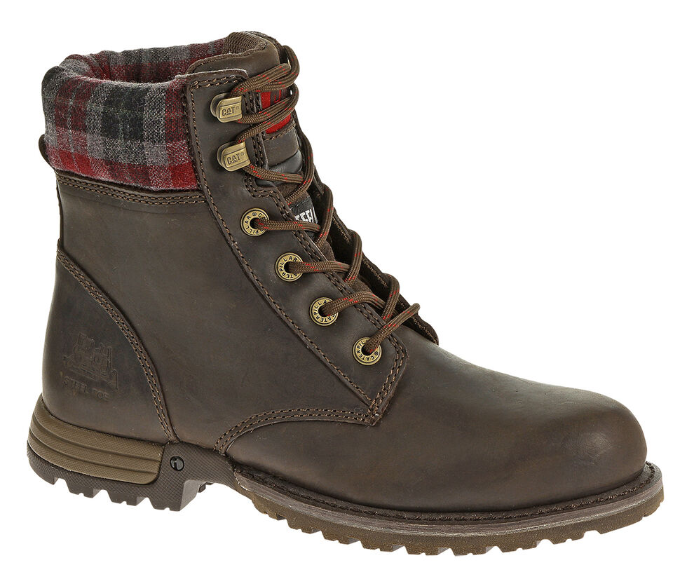 Caterpillar Women's Kenzie Work Boots - Steel Toe, Bark, hi-res