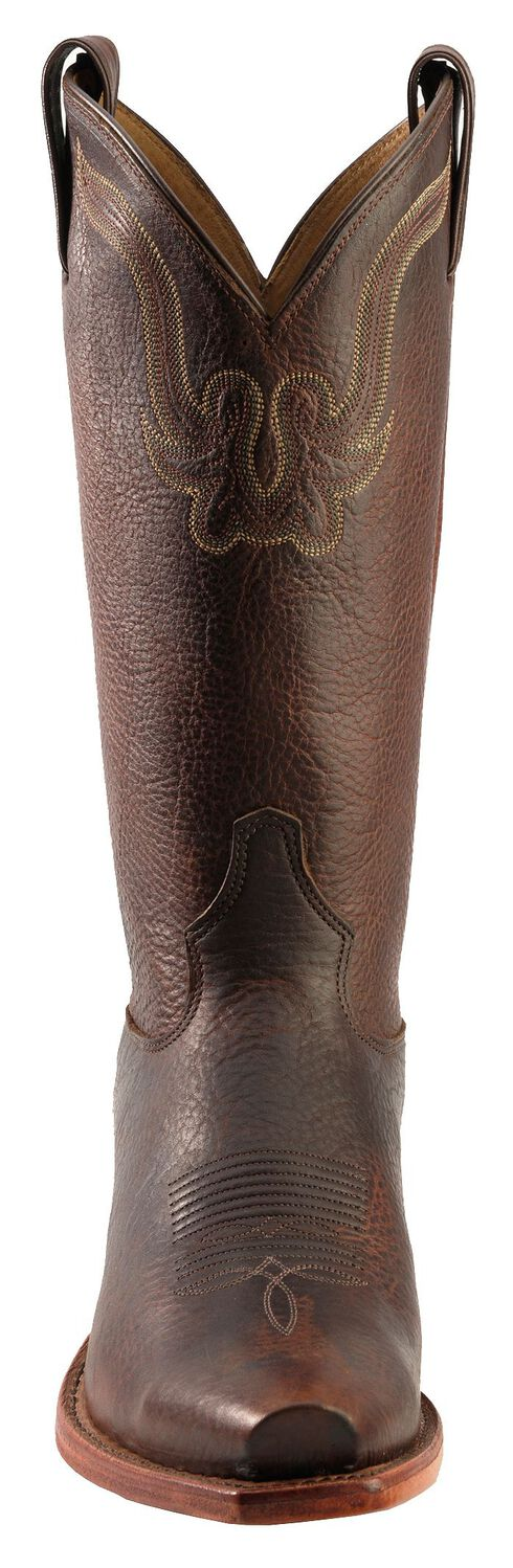 Tony Lama Rowdy Bison Western Boots - Square Toe, Pecan, hi-res