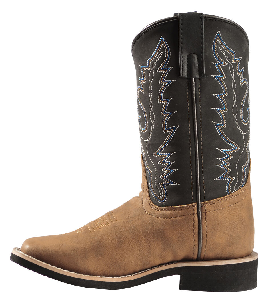 Swift Creek Boys' Cowboy Boots - Square Toe, Brown, hi-res