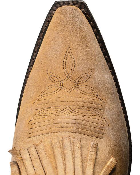Dingo Tres Fringe Cowgirl Boots - Snip Toe, Tan, hi-res
